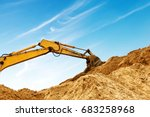 construction sites  excavators... | Shutterstock . vector #683258968