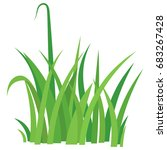 fragment of a green grass... | Shutterstock .eps vector #683267428