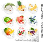 big collection of fruit in a... | Shutterstock .eps vector #683269498