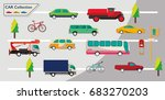 different vehicles on the road | Shutterstock .eps vector #683270203