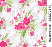 elegant seamless pattern with... | Shutterstock . vector #683272690