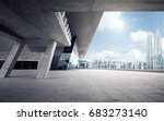 rooftop modern building with... | Shutterstock . vector #683273140