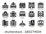 building icons set. | Shutterstock .eps vector #683274034