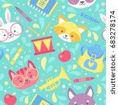 school seamless pattern for... | Shutterstock .eps vector #683278174