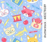 school seamless pattern for... | Shutterstock .eps vector #683278189