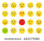 set of emoticons or emoji.... | Shutterstock . vector #683279080