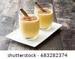 homemade eggnog with cinnamon... | Shutterstock . vector #683282374