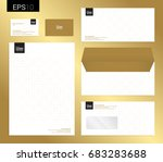 modern stationery set in vector ... | Shutterstock .eps vector #683283688