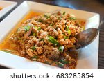 Spicy Minced Pork In White...