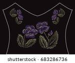 decorative flowers in... | Shutterstock .eps vector #683286736