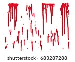 set of blood for halloween... | Shutterstock .eps vector #683287288