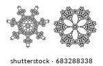 israel jew ethnic fractal... | Shutterstock . vector #683288338
