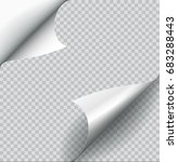 raster paper page curl with... | Shutterstock . vector #683288443
