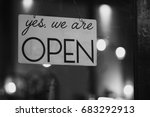 yes  we are open | Shutterstock . vector #683292913
