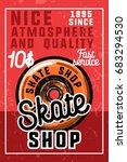 color vintage skate shop banner | Shutterstock .eps vector #683294530