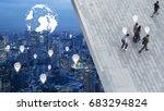 the concept art of social... | Shutterstock . vector #683294824