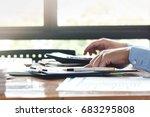 businessmen or accountants... | Shutterstock . vector #683295808