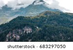 alps through the fog and clouds ...   Shutterstock . vector #683297050