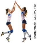 female professional volleyball... | Shutterstock . vector #683297740