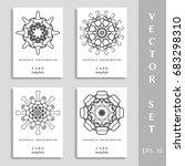 black mandala art  geometric...   Shutterstock .eps vector #683298310