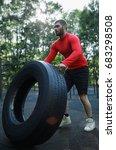 a handsome muscular man in a... | Shutterstock . vector #683298508