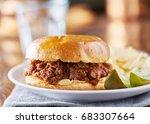 sloppy joe meal with potato... | Shutterstock . vector #683307664