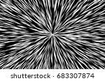 sun rays for comic books radial ... | Shutterstock . vector #683307874
