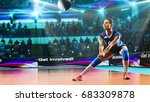 female professional volleyball... | Shutterstock . vector #683309878