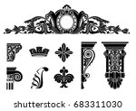 set of classic graphic... | Shutterstock .eps vector #683311030