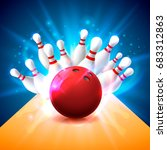 bowling club poster with the... | Shutterstock .eps vector #683312863