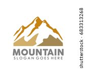 mountain rock logo design... | Shutterstock .eps vector #683313268