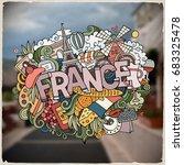 cartoon vector hand drawn... | Shutterstock .eps vector #683325478