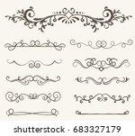 vector set of decorative...   Shutterstock .eps vector #683327179