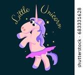 cute unicorn isolated set ... | Shutterstock .eps vector #683331628