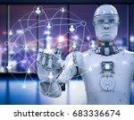 3d rendering social network... | Shutterstock . vector #683336674