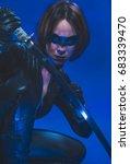 killer  brunette girl dressed... | Shutterstock . vector #683339470