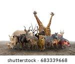 group of africa animals... | Shutterstock . vector #683339668