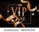 elegant vip invitation card...   Shutterstock .eps vector #683341549