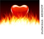 burn heart flame fire valentine'... | Shutterstock .eps vector #68334259