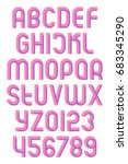 alphabet letters and numbers... | Shutterstock .eps vector #683345290