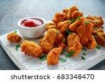 fried crispy chicken nuggets... | Shutterstock . vector #683348470