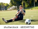 sport  sports injury and people ... | Shutterstock . vector #683349760