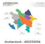 azerbaijan country map... | Shutterstock .eps vector #683350006