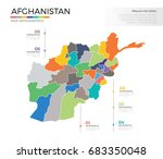 afghanistan country map... | Shutterstock .eps vector #683350048