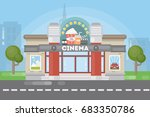 isolated cinema building. | Shutterstock .eps vector #683350786