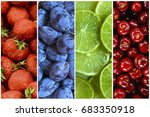 collage of fresh and ripe... | Shutterstock . vector #683350918
