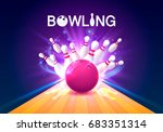 bowling club poster with the...