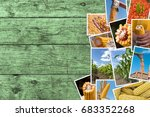 corn farming in agriculture... | Shutterstock . vector #683352268