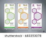 roll up brochure flyer banner...   Shutterstock .eps vector #683353078
