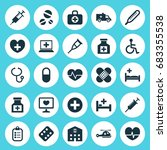 antibiotic icons set.... | Shutterstock .eps vector #683355538